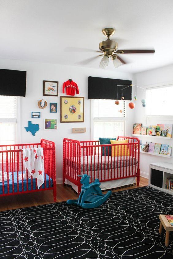 Ceiling fan in baby room
